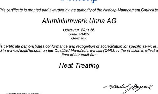 忠旺德国子公司乌纳铝业连获多项国际资质认证