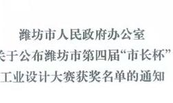 """华建铝业集团荣获潍坊市第四届""""市长杯""""工业设计大赛二等奖"""