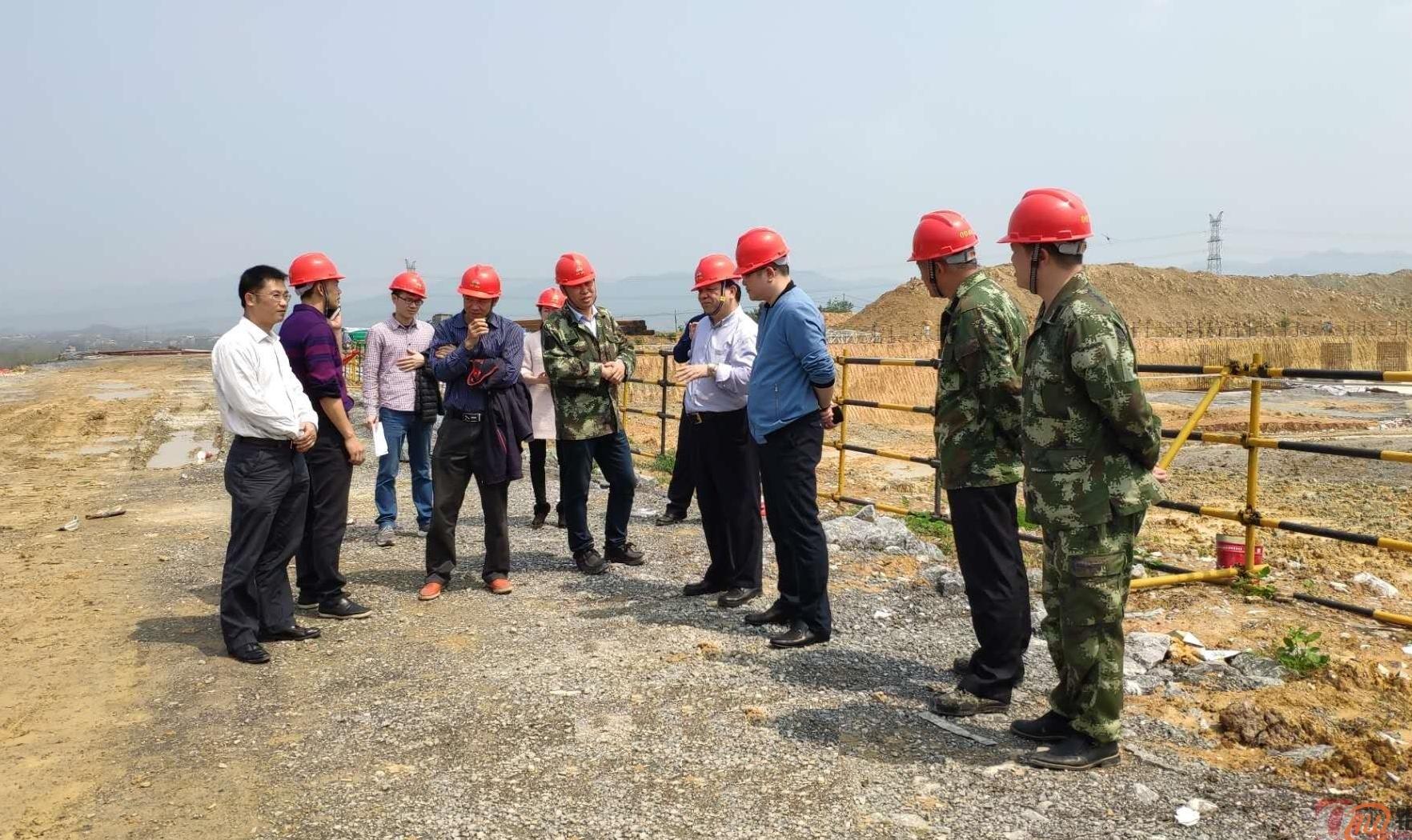 百色市发改委副主任黎辉一行到田东碳素项目调研