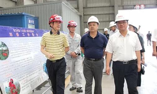 新疆生产建设兵团十三师考察东方希望渑池铝业