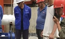 天桂铝业项目排盐苛化第 一台电机试运行