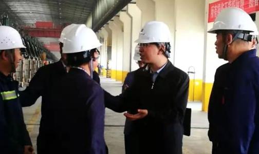 西宁经济开发区管委会主任孔令栋一行莅临百河铝业公司检查指导工作