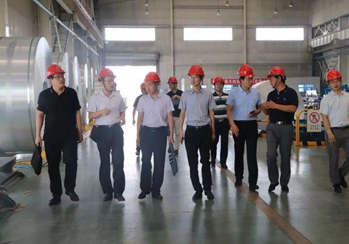 滨州市委市政府政研室副主任李宗民一行到魏桥铝深加工产业园调研