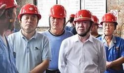 山东省铝工业考察团来集团公司考察