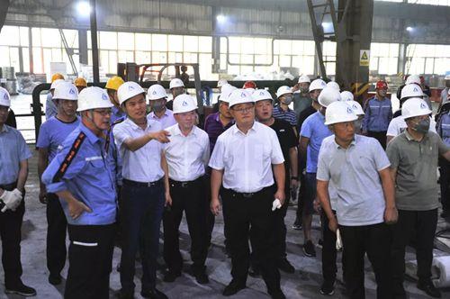 山东省铝工业考察团来兰铝公司进行参观考察