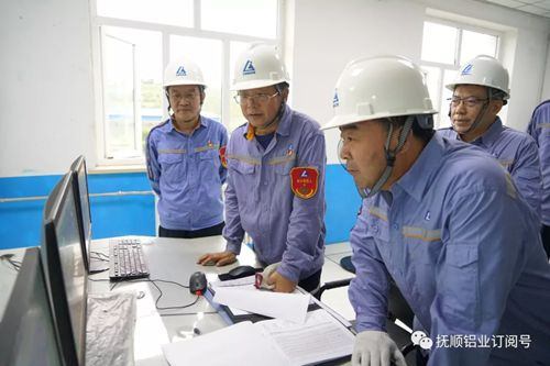 中国铝业蒋英刚一行到抚铝调研