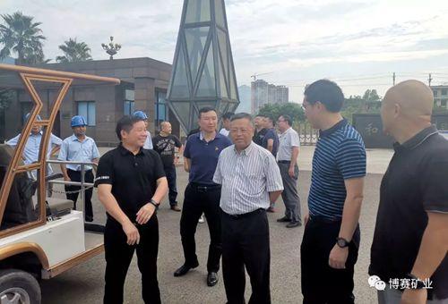 重庆旗能电铝公司董事长张敬中一行到博赛集团考察氧化铝工厂