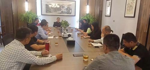 上海考察团一行十二人莅临长葛市再生铝行业协会参观考察