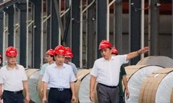 丹徒新区马区长率队丹徒区各级领导实地参观考察源龙铝业