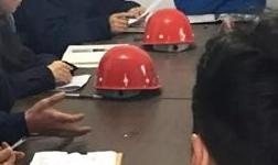 薛文林参加苏铝铝业生产服务中心党支部科级干部年度考核测评会