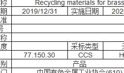 再生黃銅原料、再生銅原料、再生鑄造鋁合金原料國家標準公布