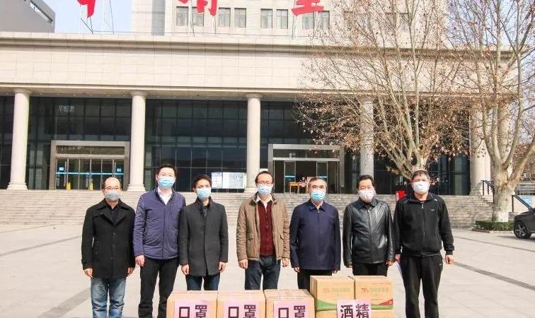中铝国际九冶向陕西4所高校捐赠防疫物资