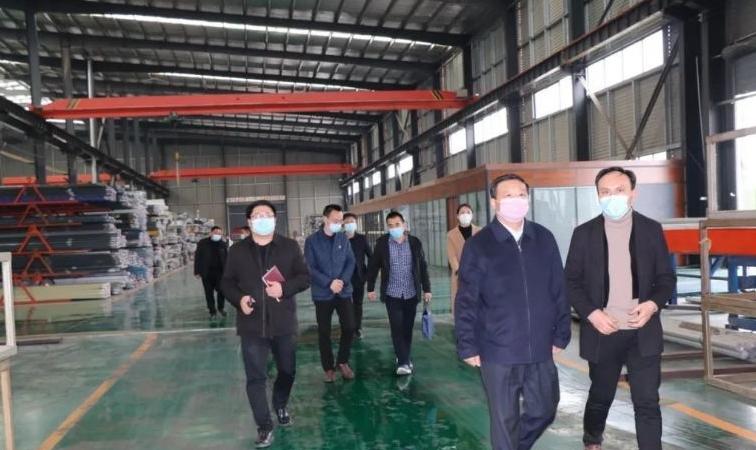 市总工会、开发区党委领导一行莅临天子铝材调研防疫工作和复工复产情况