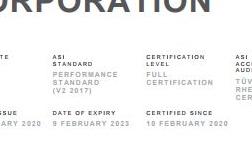 中钢铝业股份有限公司通过ASI绩效标准认证