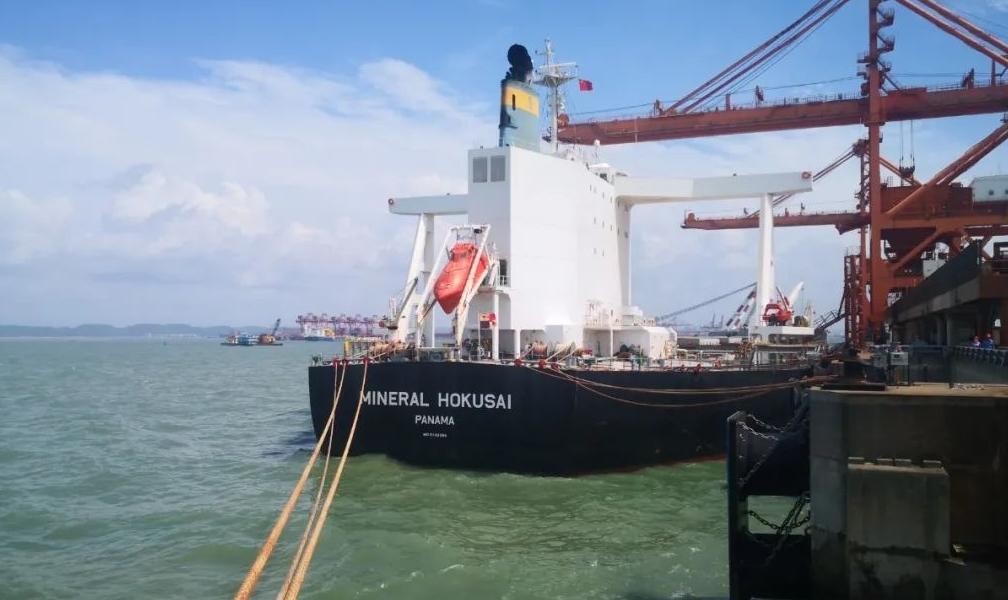 东南亚陆港打破常规快速通关确保华�N铝土矿供应