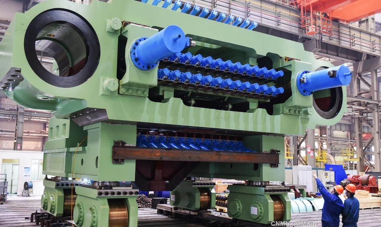 大型铝板125MN拉伸机制造完成