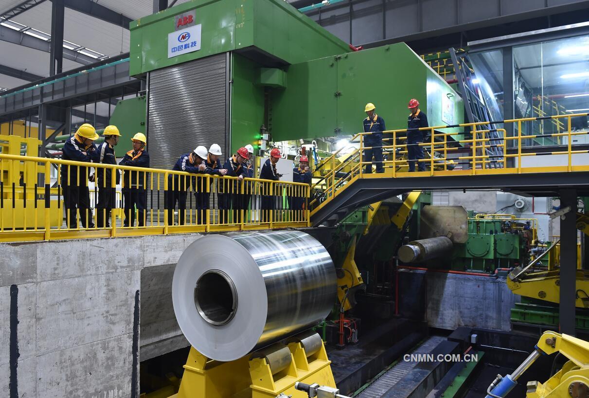 中铝西南铝2800mm冷轧机成功试车