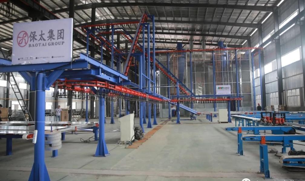 江西保太集团铝型材立式喷涂生产线顺利投产