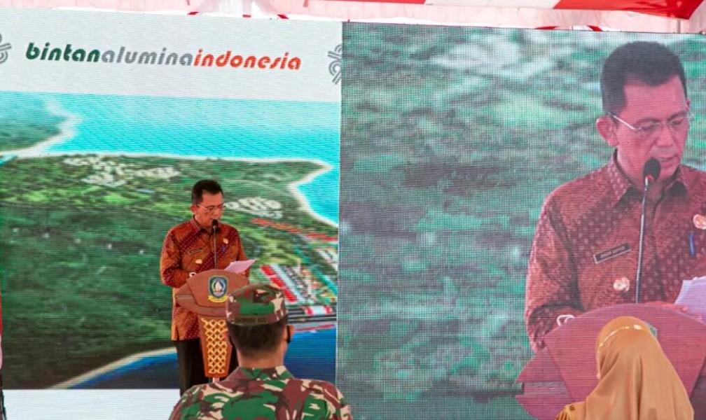 印尼宾坦氧化铝有限公司首船氧化铝顺利发运