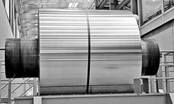 宝武铝业气垫炉热试第 一卷铝板带下线