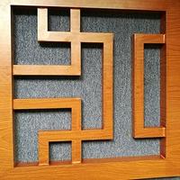 广东办公室仿古木纹铝窗花格装饰
