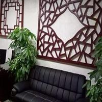 四合院仿木色铝挂落仿古装饰 景区亭台铝挂落订制