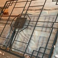 安徽户外墙面金属窗花厂 铝合金方管焊接造型铝窗花