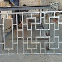 古建街道改造中式铝窗花 木纹铝挂落批发商