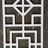 20管烧焊铝花格-仿木色铝格栅窗