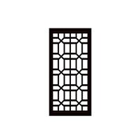 咖啡色建设金属铝花格-中式铝窗格