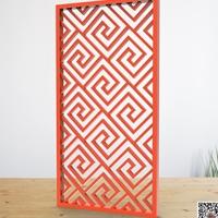 红色铝花格窗棂格铝挂落