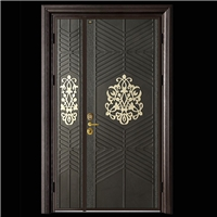入户大门 铸铝门铝雕花门  防爆铸铝门