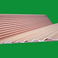 弧形仿木纹铝方通-波浪形铝格栅-吊顶天花