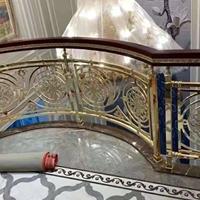 别墅全铜楼梯 纯铜楼梯围栏 新特镀金楼梯护栏全套定制