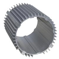 电机壳6063T5/6061T6铝合金拉伸电机壳挤压铝合金电机外壳
