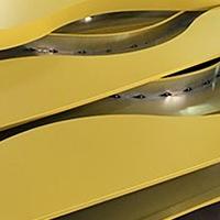 酒楼弧形铝方通-造型铝方通-异形格栅天花
