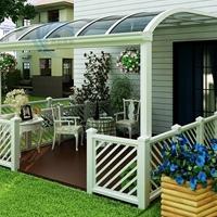 阳台遮阳棚耐力板雨棚 庭院阳光板雨蓬雨搭