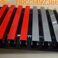 广东木纹铝型材厂家 型材凹凸槽铝方通