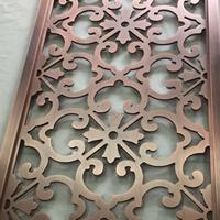铝板电镀仿铜屏风