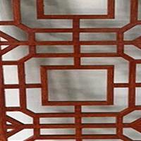 &#8203街道门窗改造木纹铝窗花-外墙氟碳铝窗花