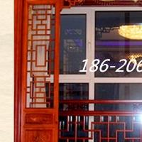 古楼&#8203护栏铝窗花-木纹铝窗花-仿古铝挂落
