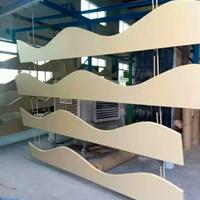 木纹铝方通吊顶 高铁站吊顶装饰木纹铝方通