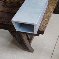 遵义铝合金材铝方管价格 楼梯扶手专用