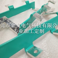 连接异型排环氧树脂涂层铜排加工
