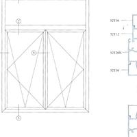 门窗幕墙装饰隔热断桥包木复合铝型材