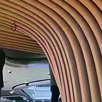 &#8203门头造型铝方通-弧形铝方通单板-天花幕墙
