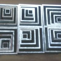 厂家6063铝方管型材木纹转印