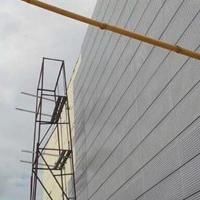传祺4s店展厅外墙装饰金属银灰色拉网板