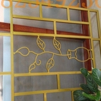 喷粉工艺 雕刻铝窗花镂空外墙木纹铝窗花