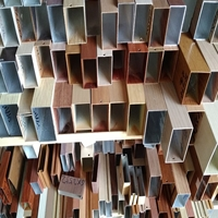 仿木紋鋁方通 長條木紋吊頂型材 熱轉印